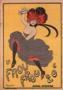 Le frou frou magazine inaugural cover poster
